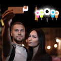 Мобильный Телефон Камера Ночного Использования Мини Selfie Заполняющий Свет Вспышки Для iPhone Android Смартфон Синхронизации Прожектор Встроенный 8 Светодиодов Пакет