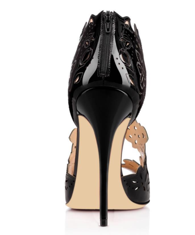 La Creux Saison Américain Printemps Poissons D'automne De Talons Hauts Sexy Bouche Et Séduction Noir Européen Mode Sandales ZPiXkTOu