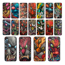 Soft silicone phone case For iPhone cover 7 8 6 6s plus X XS max XR 5 5S se Colorful demon skull warrior pattern Cellphones oque цена и фото