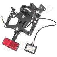 CNC Motor Fender Eliminator Registration Plate Holder License Kit Frame w/ LED Light For Suzuki GSXR1000 GSXR 1000 K7 2007 2008