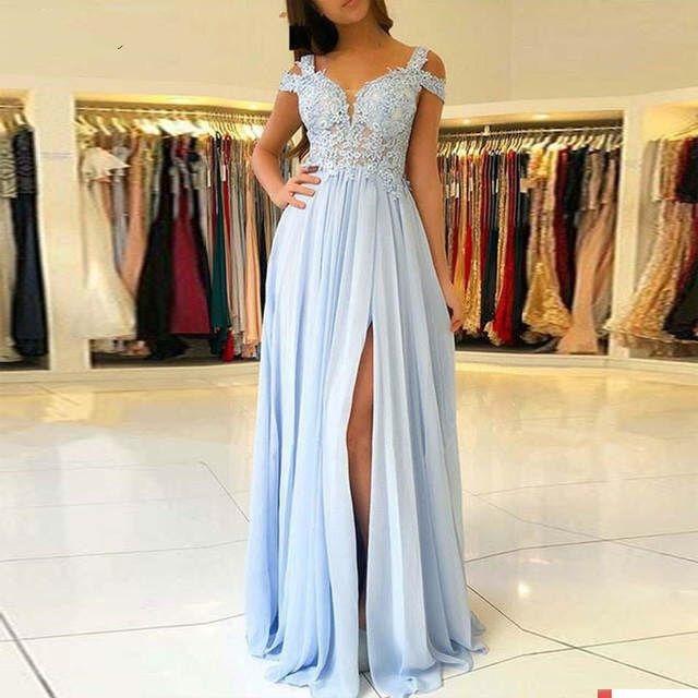 Sexy longue Robe De soirée 2019 une ligne dentelle Applique femmes Robe formelle bal De mariage robes De soirée longueur De plancher Robe De soirée