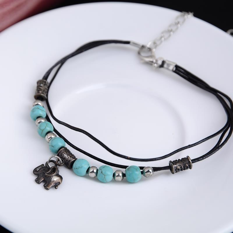 Tibetan Sliver Plated Elephant Bracelet