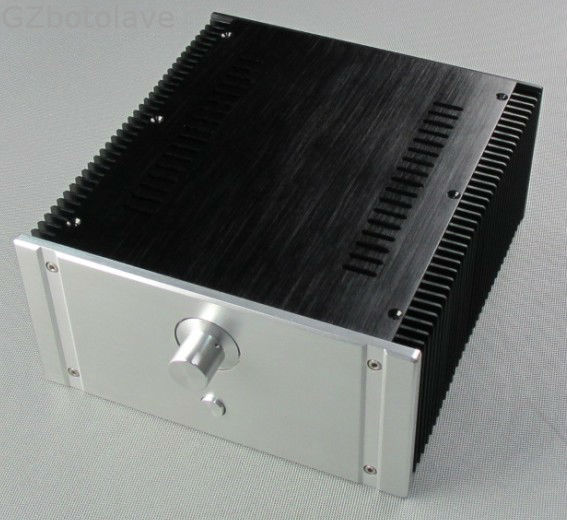 2412B Full Aluminum Enclosure mini AMP case/power amplifier box chassis wa60 full aluminum amplifier enclosure mini amp case preamp box dac chassis