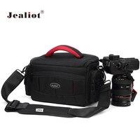 Jealiot camera bag waterproof slr dslr bag for shoulder digital camera Video foto instax Photo lens bag case for Canon 6d Nikon