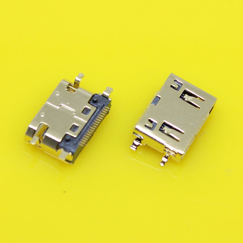 HD-015 Gold plating 19P MINI HDMI female socket Type C with SMD fixed feet