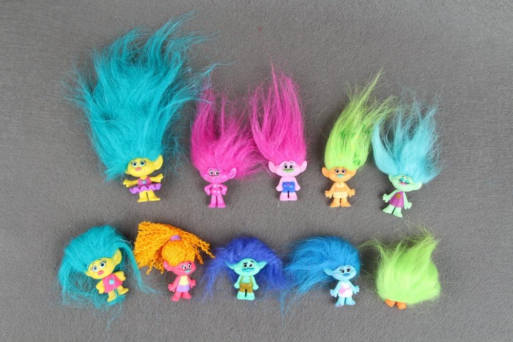 все цены на  10pcs Differents Random Original Trolls 2 inches figures Collection Pack  онлайн