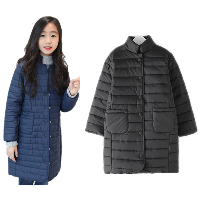 8 to 16 years kids & teenager girls winter quilted long parkas jacket & coat children fashion casual warm slim outerwear clothes 2017 winter women jacket new fashion thick warm medium long down cotton coat long sleeve slim big yards female parkas ladies269