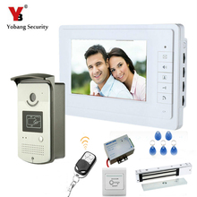 YobangSecurity 7″Inch Video Door Bell Phone Intercom RFID Card Access Control Door Entry System With Door Lock Remote Controller