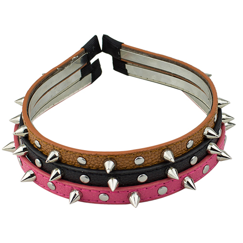 Multied color Spike Rivets Studded Headband Hair Band Party Band Punk Women Accessories 9DI1