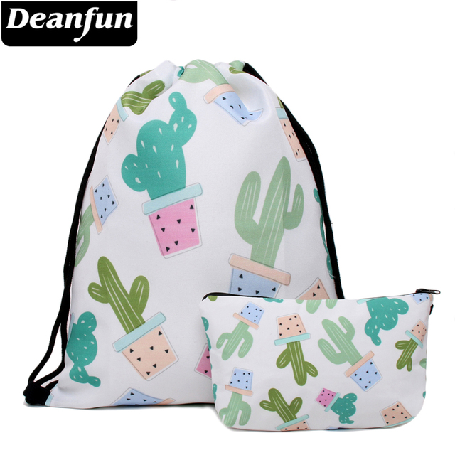 7f6efcba12 Deanfun 2 PCS School Backpack Cactus Pattern Female Bag for Teenage Girls  004