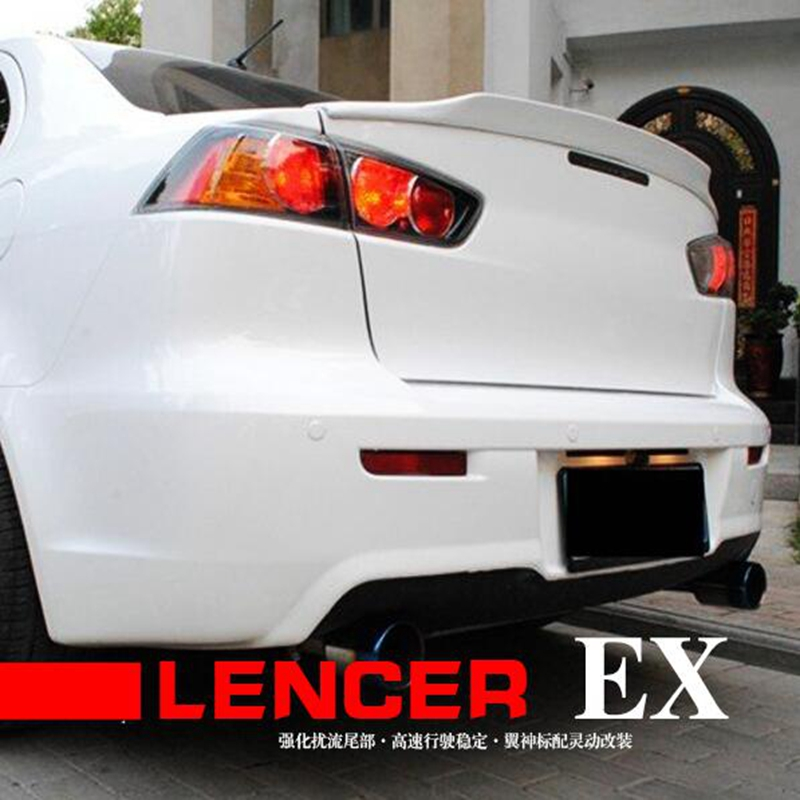 For Mitsubishi Lancer EX Evo 2008 2009 2010 2011 2012 2013 2014 2015 ABS Plastic Unpainted Primer Color Rear Trunk Wing Spoiler for lancer spoiler evo abs material car rear wing primer color rear spoiler for mitsubishi lancer evo spoiler 2010 2014