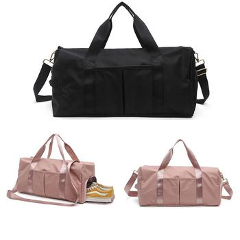 weekend travel backpack waterproof shoulder bag oxford cloth travel bag college student bag multi function sports gym bag New Oxford Cloth Women Travel Bag Multi-function Men Sports Bag Can Put Shoes Round Fitness Bags Gym Sports Travel Bag Yoga Bag