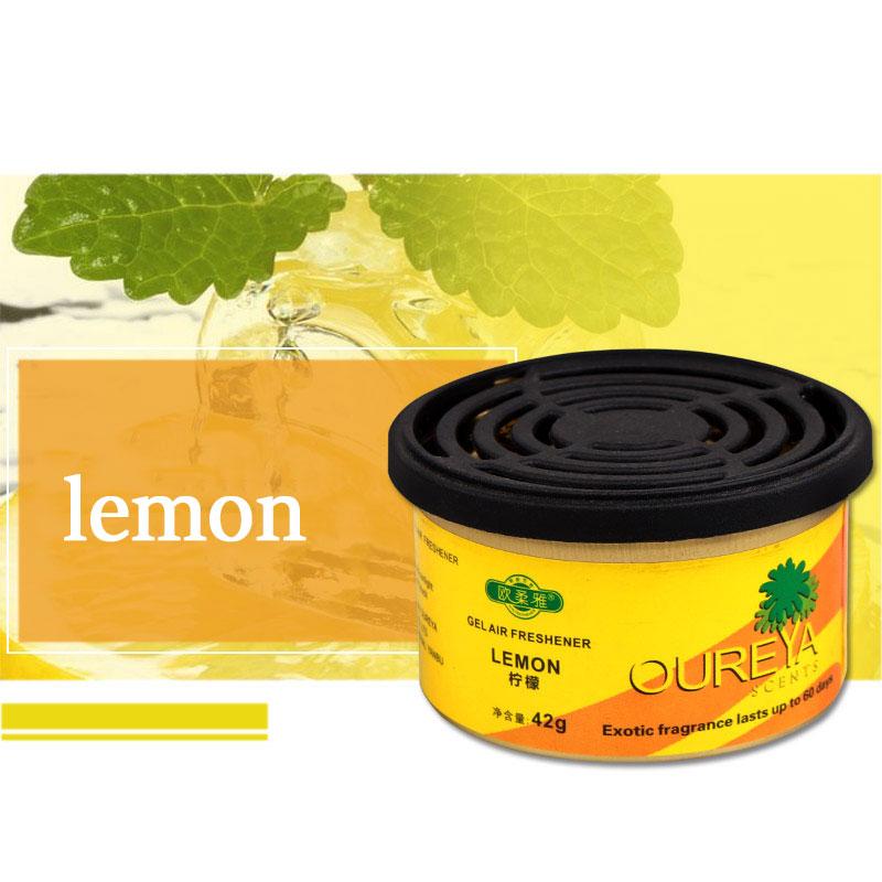 Deodorizing Solid 70g Office Scent Air Freshener Indoor Home Car Auto Decor Fruit Flower lemon Ornament Decor Fragrance Diffuser
