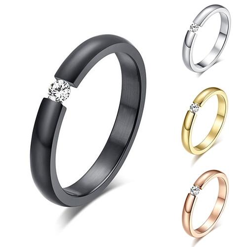 Женские Модные кольца из титановой стали Стразы, инкрустированные обручальное кольцо американского размера от 6 до 12