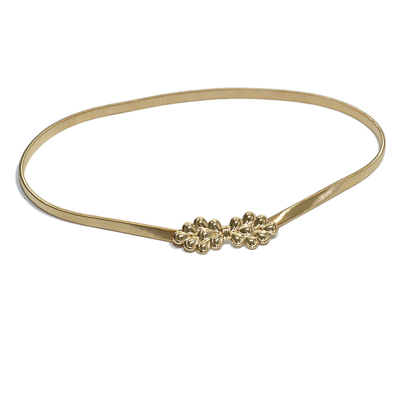 2018 New Fashion Gold Belt Women Spring Gold Waist Chain Ladies Elastic Tight-fitting Cummerbunds Metal Belts Bg-903