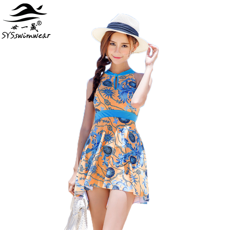 7458894c2d3bc High quality Print Backless One Pieces Women Swimwear Top neck Young Slender  Ladies Pool Swimsuit Beautiful Bathing suit