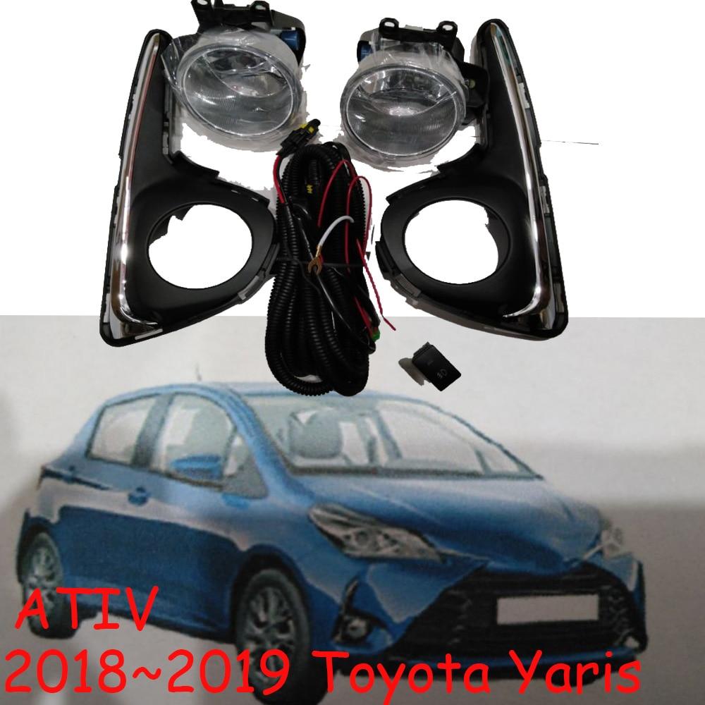 car bumper lamp headlight for Toyota yaris fog light ATIV Swith ON/OFF 2018 2019 car accessories daylight yaris L fog lamp