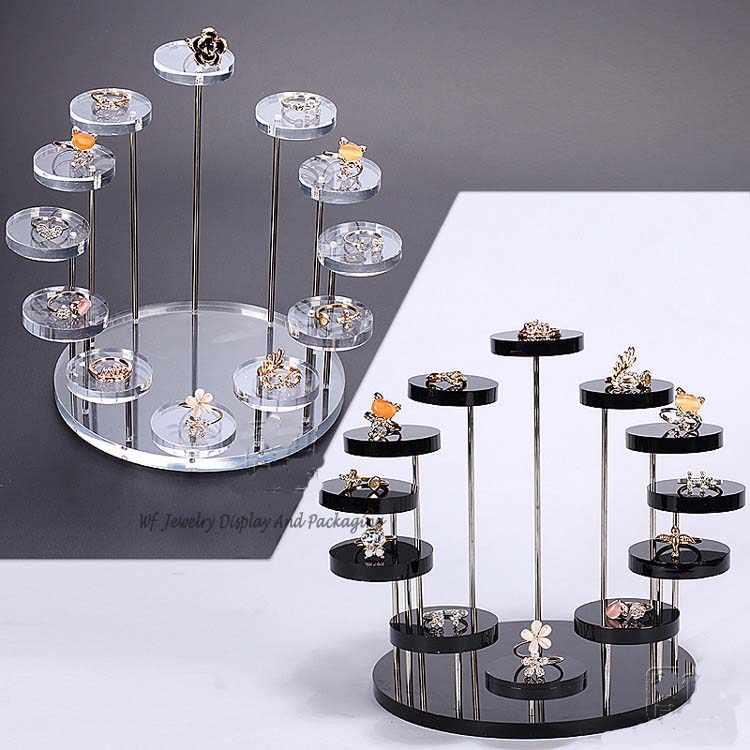 New Arrival 7-warstwa okrągły biżuteria wyświetlacz pulpit uchwyt na kolczyk pierścień stojak wystawowy półka biżuteria pokaż stojąca półka