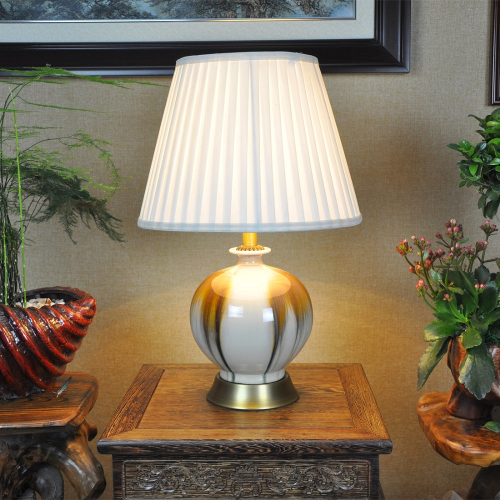 Art chinese porcelain ceramic table lamp bedroom living room art chinese porcelain ceramic table lamp bedroom living room wedding table lamp jingdezhen table lamps classic in table lamps from lights lighting on geotapseo Gallery