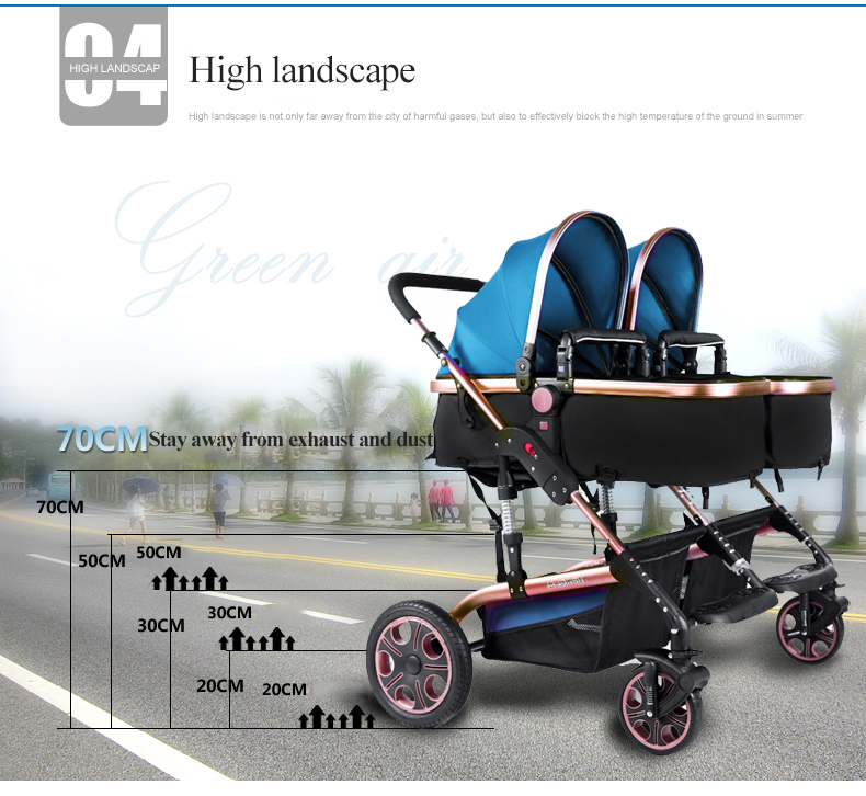 twin stroller Bugaboo donkey brand mother face side by side twins ...