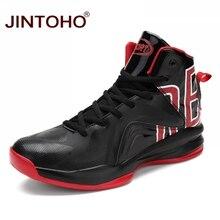 JINTOHO/Высококачественная Мужская баскетбольная обувь; нескользящие баскетбольные кроссовки; мужские спортивные ботильоны на шнуровке; Баскетбольная обувь; Homme