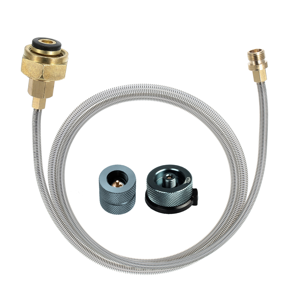 Outdoor Camping Gas Stove Conversion Head and Pipe Gas Burner Accessories