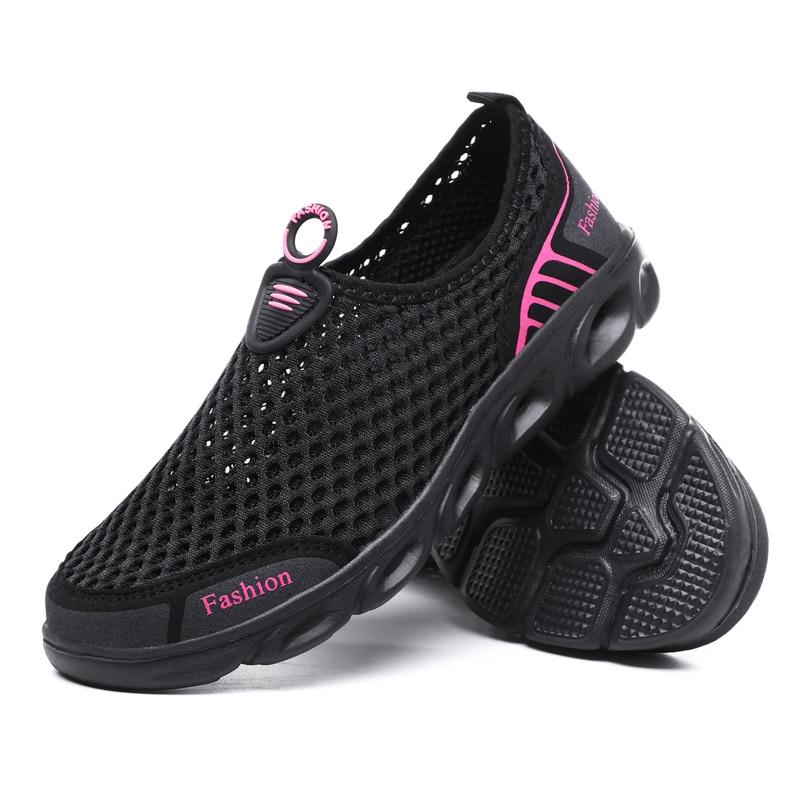 Легкие летние мужские туфли унисекс дышащая сетчатая повседневная