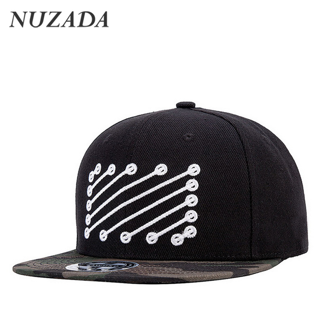 Brands NUZADA Sports Hip Hop Cap Hats Men Women Baseball Caps Trend Quality Snapback Bone Embroidery Classic Pattern jt-112