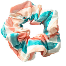 Wild hair band female striped wild color large intestine ring elastic rope