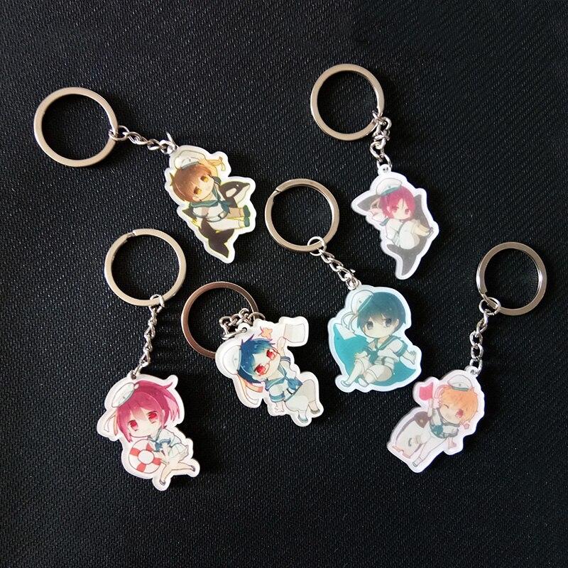 6 шт./компл. аниме бесплатно! Бесплатно Плавание Club Рин macoto nanase Rei nanase брелок подвеска брелок llavero подарок