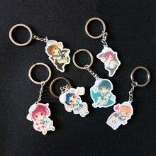 6pcs/set Anime Free! Iwatobi Swim Club Rin Macoto Haruka Nanase Rei Haruka Nanase Keychain Pendant Keyring llavero Gift