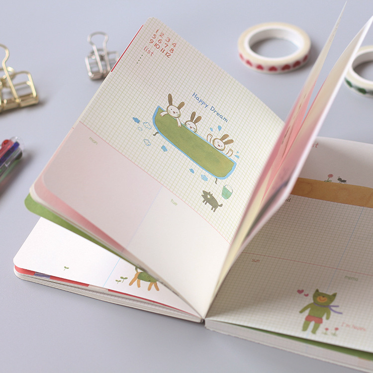 Planner sheets for Hobonichi standard journal A6 80 Sheets DIY agenda daily planner 2018 new plan book school office supplies