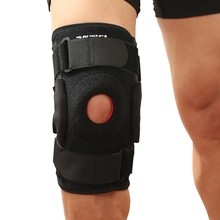 Professional Knee Sleeve Wrap Alloy Spring Plate Breathable Leg Protective Belt Protector Fitness Cycling Climbing Sportswear