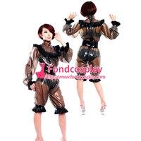 Сисси горничной платье ПВХ с замочком форма карнавальный костюм Сделанные на заказ [G2183]