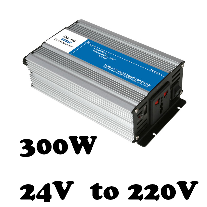 цена на off grid pure sine wave inverter 300w 24v to 220v power inverter voltage converter solar inverter AG300-24-220