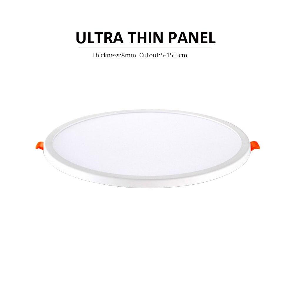 1 P Super Helligkeit Ac220v Led Panel Licht Led-deckenleuchte Runde Ultra Dünne Led Downlight Runde Panel Lichter 6 W 15 W Panel Lampe HüBsch Und Bunt