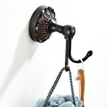 Античный из твердой латуни аксессуары для ванной комнаты аппаратный крючок для халата сушилка для волос