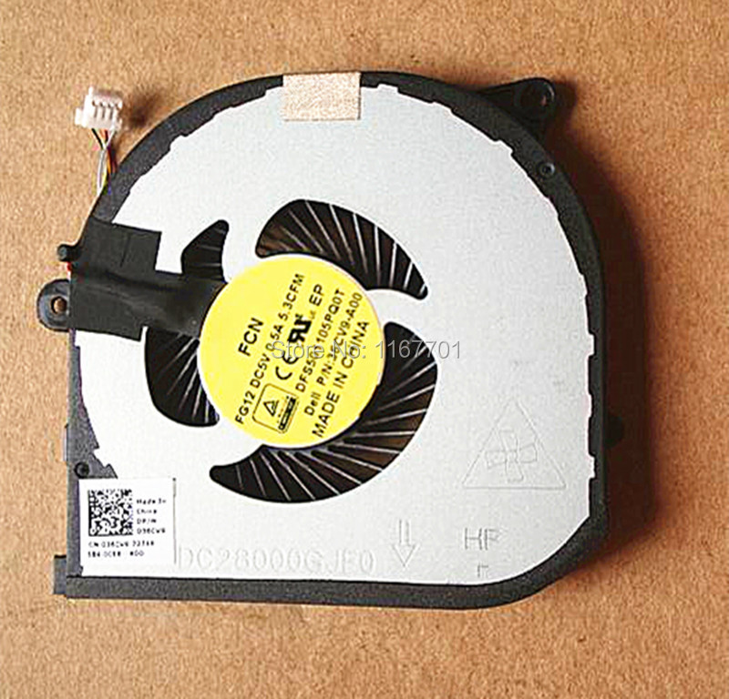 Computer & Office Responsible Laptop/notebook Cpu Gpu Graphics Card Cooling Fan For Dell Xps 15-9550 Precision 5510 036cv9 Dfs501105pq0t-fg12 Dc28000gjf0 Fan Cooling