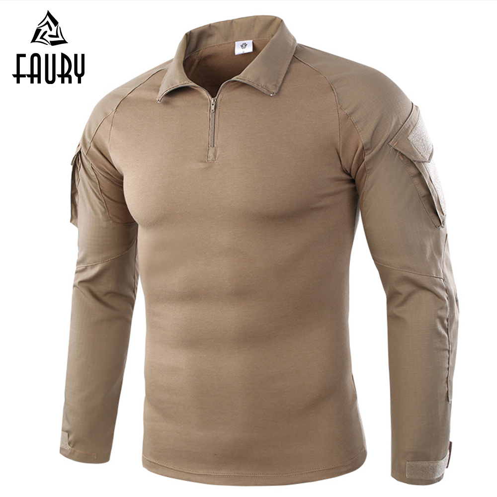 Men's Tactical Gear Army Military Uniform Combat Long Sleeve T-shirt Cargo Multicam Airsoft Paintball Militar Tactical Clothing