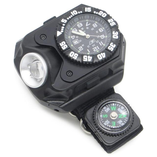 Montre Bracelet Avec Fonction Boussole Rechargeable Lampe Fichiers La Multifonctionnelle Tactique 6 Led De Sos Poche Sport 7bYy6gf