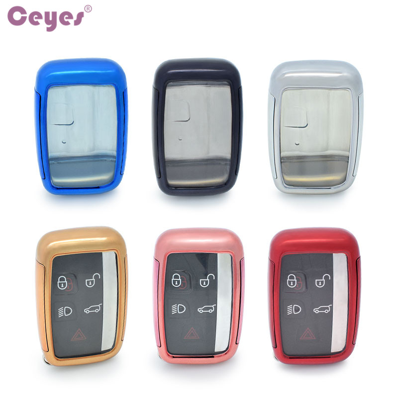 Ceyes New TPU PC Bag Car Styling Auto Key Cover Shell Case For Land Rover Range Rover Sport Freelander 2 Accessories Car-Styling