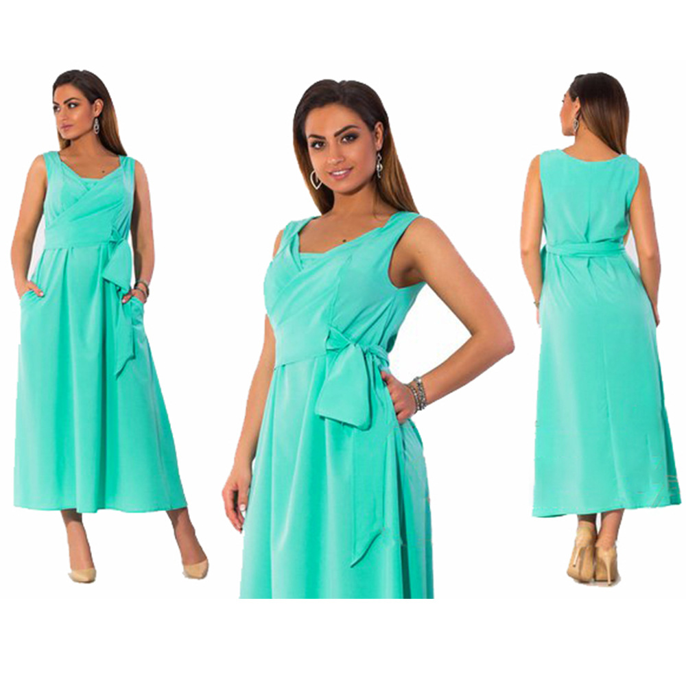 Fat MM 6xl Plus Size Summer Chiffon Dresses Women Hot Sale Cute Knot ... de7738502952