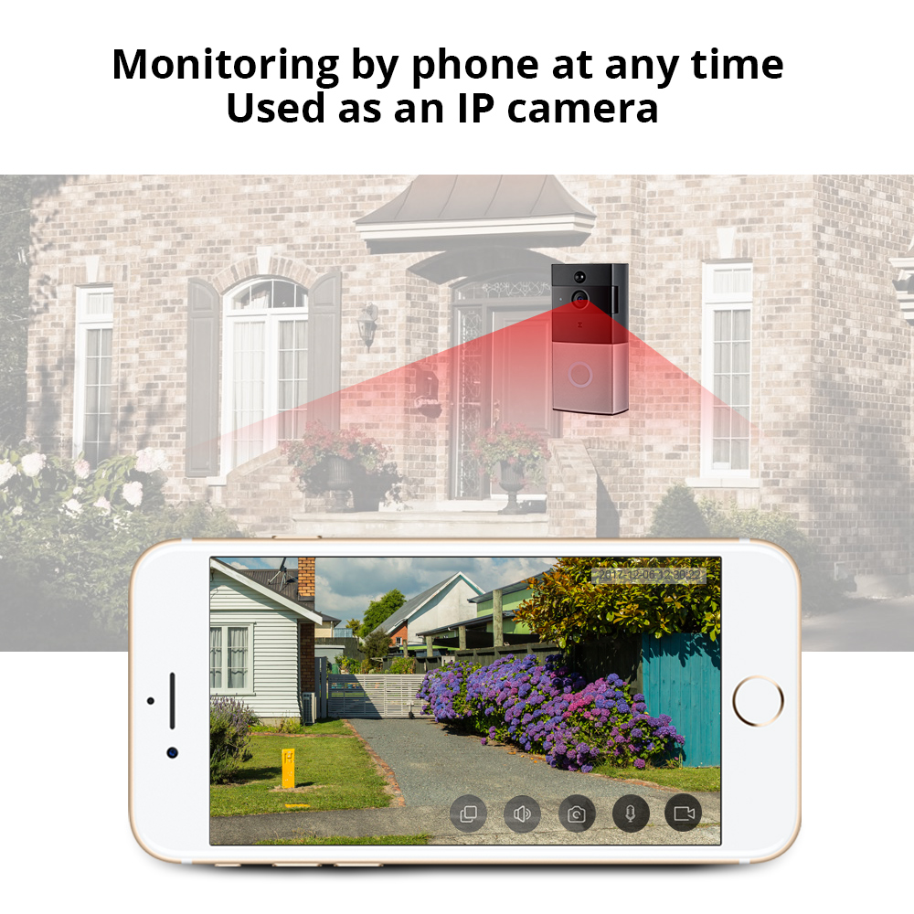 Image 3 - Smart WiFi Wireless Doorbell Camera Ring Visual Intercom Video Doorbell Phone Remote Home Security Monitoring Night Vision-in Doorbell from Security & Protection