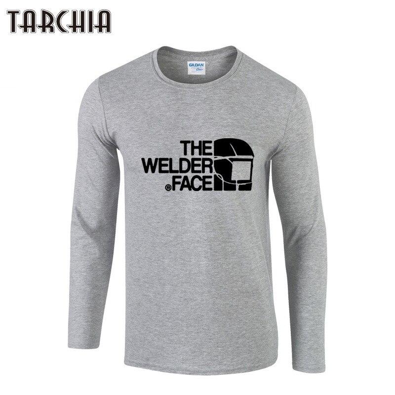 Tarchia Mens Designer Shirts Fashion The Welder Face Print Long