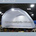 Free shipping 7mWx4mHx5mD light grey white inflatable stage tent oxford cloth tent for outdoor events inflatable canopy