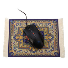 Vintage Gaming Mouse Mat Pad Persian Carpet Locking Edge Mousepad With Tassel for Laptop Computer Persian Home Decor 275x180mm