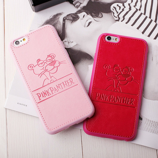 9439481d97e SERACASE High Quality PU Leather Lovely Pink Panther Case For iPhone X 6 6s  7 Plus 8 8plus Lovers Soft Phone Cases Back Cover