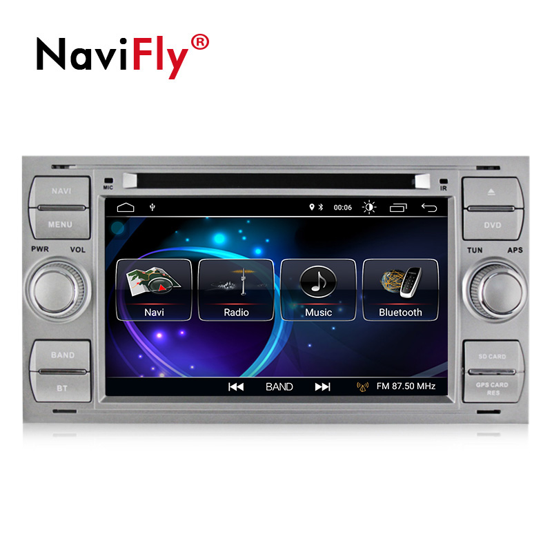 NaviFly 7 pouces 2 din Android 8.1 voiture dvd radio player pour Ford C-Max Connect Fiesta Fusion Galaxy kuga Mondeo S-max Point