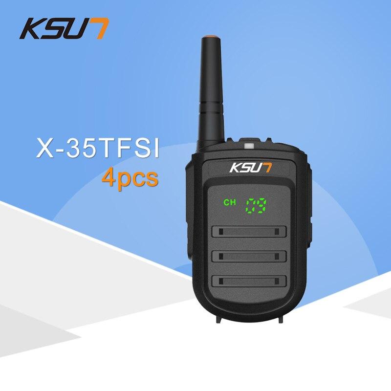 4 PCS KSUN X-35TFSI Walkie Talkie 8W Handheld Pofung UHF 8W 400-470MHz 128CH Two way Portable CB Radio