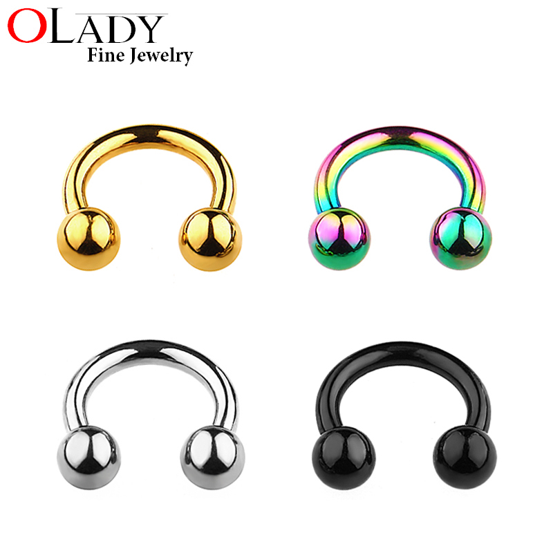100% Titanium 6~10mm Nose Septum Ring,Lip Nipple Eyebrow Lobe Rings Hoop Horseshoe Ear Piercings Women Men Body Jewelry -in Body Jewelry from Jewelry & Accessories on Aliexpress.com | Alibaba Group